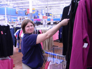 Amanda working at Wal-Mart
